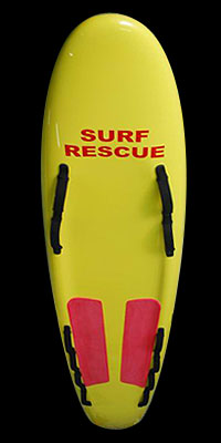 Fibreglass surf rescue board