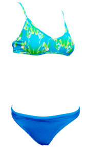 Sports Bikini Blue Pattern