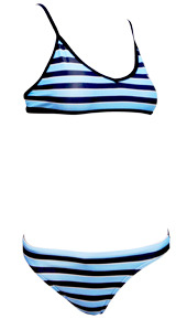 Sports Bikini Blue Stripe