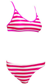 Sports Bikini Pink Stripe