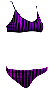 Sports Bikini Purple Stripe