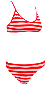 Sports Bikini Red Stripes