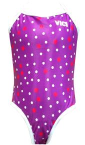 Girl's Paris One Piece Spots Purple